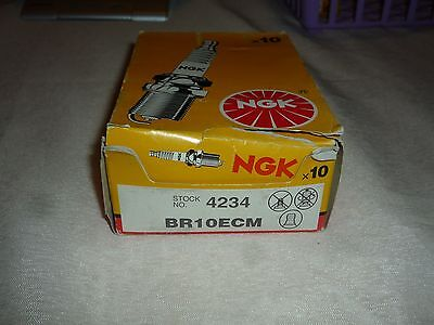 Box of 10 Genuine NGK BR10ECM (4234) Spark Plugs NEW OLD STOCK