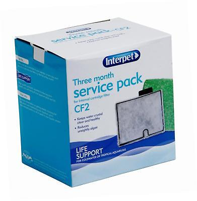 Interpet Three Month Service Pack for Internal Cartridge Filter - CF 2