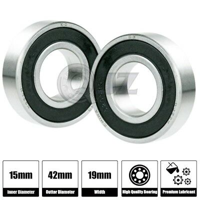 1-Pack with Double Rubber Seal ID x OD x Width 5302-2RS Angular Contact Ball Bearing 15 mm x 42 mm x 19 mm