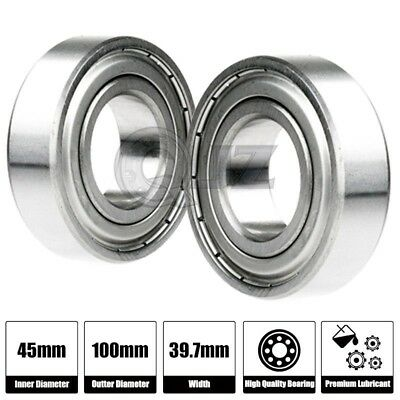2x 5308-2RS Sealed Double Row Ball Bearing 40mm x 90mm x 36.5mm 2 Rubber Shield