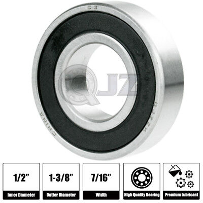 """1//2/"""" x 1-3//8/"""" x 7//16/"""" 3x 1621 2RS Rubber Sealed Deep Groove Ball Bearings"""