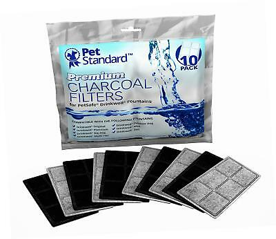 Premium Charcoal Filters for PetSafe Drinkwell Fountains, Pack of 10