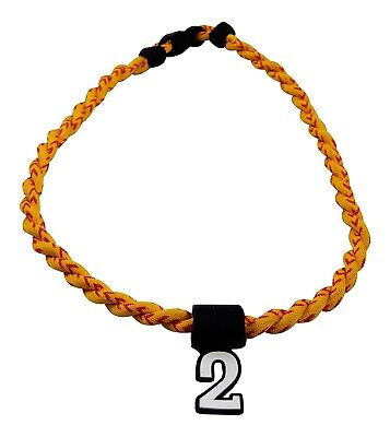 (Softball Stitch) - Pick Your Number - Twisted Titanium Sports Tornado Necklace
