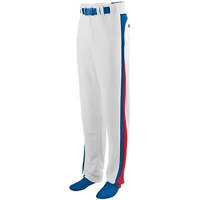 (Small, White/Royal/Red) - Augusta Sportswear BOYS' SLIDER BASEBALL PANT