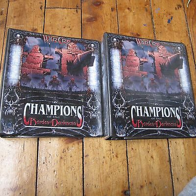 War Cry Champions of the Hordes of Darkness CCG Empty Folders Binders Warhammer