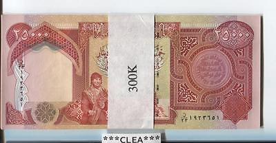 300,000 NEW IRAQI DINAR UNCIRCULATED SERIAL NUMBERED 12 x 25,000 PRIORITY MAIL