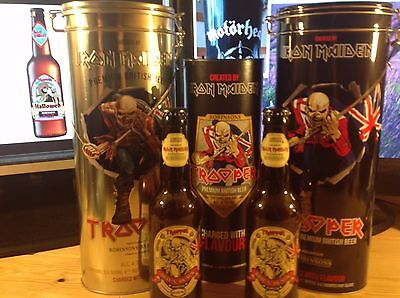 Iron Maiden HALLOWED Trooper Beer Gift Tin Tube Emptied Playing Cards Robinsons