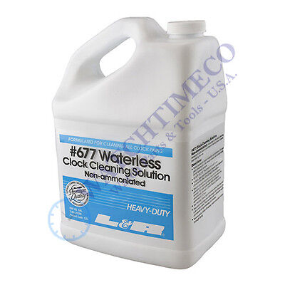 L&R #677 Waterless Clock Cleaning Solution Non-Ammoniated 1 Gallon