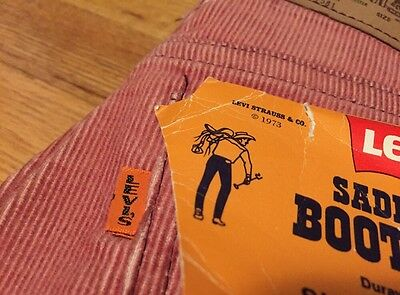 Vintage Levis 716 Big E Talon 42 Zipper Corduroy Saddleman Boot Jean Pants. W 29