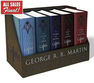 Game of Thrones Book Collection Leather Bound Set Hardcover George RR Martin 1-5