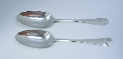 Pair of Georgian Sterling Silver Hanoverian Table Spoons - 1752 London