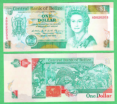 Belize 1 Dollar Note P-51  UNCIRCULATED