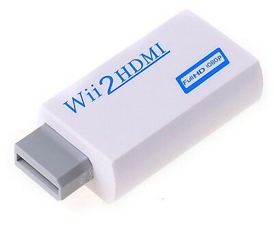 Wii to HDMI 720p 1080p HD Upscale Converter Adapter 3.5mm Audio Output