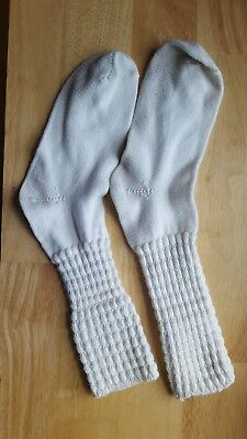 Irish Step Champion Length Poodle Dance Socks. White