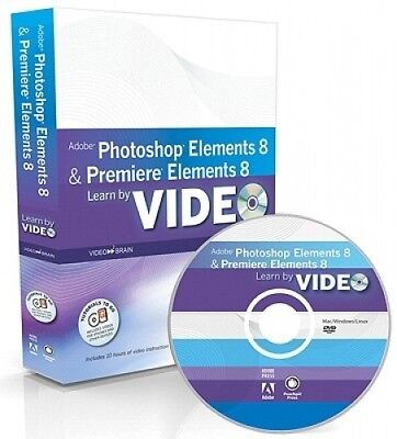 Learn Adobe Photoshop Elements 8 and Adobe Premiere Elements 8 by Video.