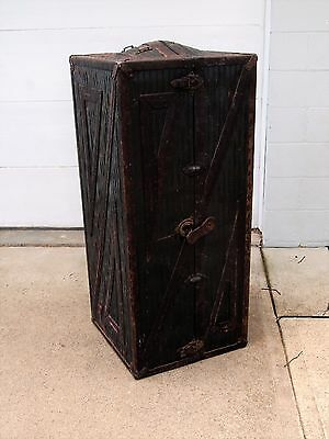 Antique Rare/Unusual 1900 Innovation WARDROBE Steamer Domed TRUNK Travel Chest