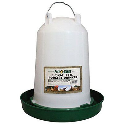 Free Range 4221 3.5 Gallon Plastic Poultry Water Fountain