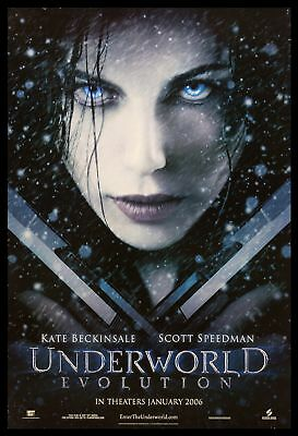Original 2006 UNDERWORLD EVOLUTION Teaser Movie Poster 27x40 DS Horror Vampire