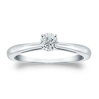1.25 Ct Round Cut Solitaire Engagement Wedding 4-Prong Ring Solid 14K White Gold