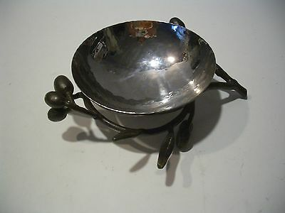 Michael Aram Earth Botanical Collection Olive Branch Hammered Nut Bowl/dish