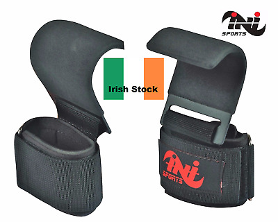 INI Power Weight Lifting Training Gym Hook Bar Strap Padded Wrist Support Strap