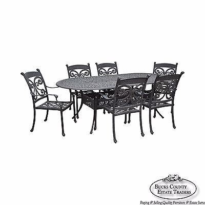 Quality Cast Aluminum Outdoor Patio Dining Table & 6 Chair Set