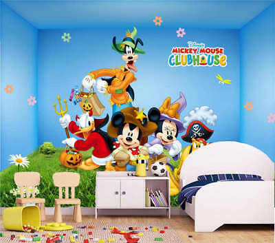 Amused Mickey Mouse 3D Full Wall Mural Photo Wallpaper Printing Home Kids Decor