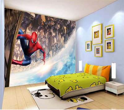 Climbing Spider-man 3D Full Wall Mural Photo Wallpaper Printing Home Kids Decor