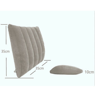 Sonicee Lumbar Support Pillow Air Waist Support Cushion for Back Pain Relief AC