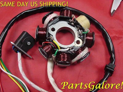 Ignition Stator Magneto 8 Coil Pole 5 Wires AC GY6 125cc 150cc Scooter ATV Buggy