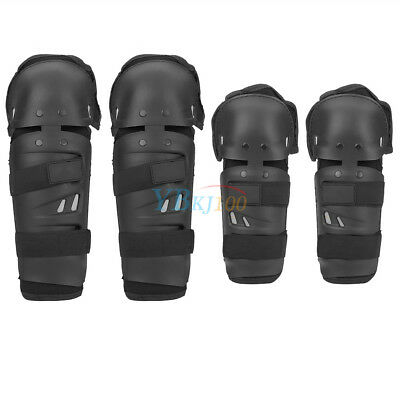 4Pcs Motorcycle Cycling Elbow Knee Pads Protective Gears Shin Guard Armors OB