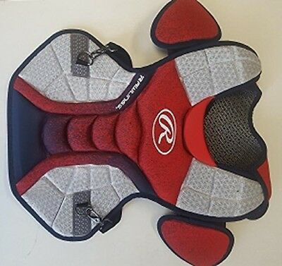 Rawlings CPVELI Red/Navy/White Velo Intermediate Chest Protector 39cm Ages13-15