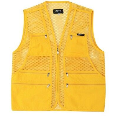 (S US(L tag Asian), Yellow) - myglory77mall Men's Multi Pockets Fly Fishing Hunt