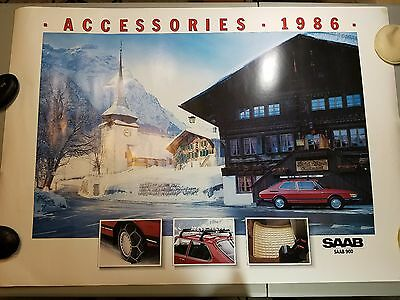 Saab 900 Automobile Photo Poster 1986 Winter Accessories