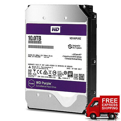 WD Purple Surveillance 10TB Hard Drive SATA 6 Gb/s 3.5'' 5400RPM 3Y Warranty