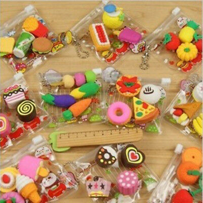 Funny Cute Food Rubber Pencil Eraser Stationery Children Party Creative Present