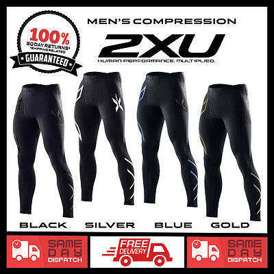NEW 2XU COMPRESSION PANTS | Mens Long Tights Pants Skins | SIZE MED LARGE