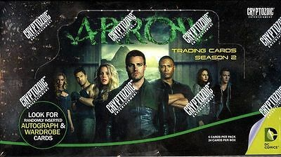 2015 Cryptozoic DC Arrow TV Season 2 New Sealed Trading Card Hobby Box 24 Packs