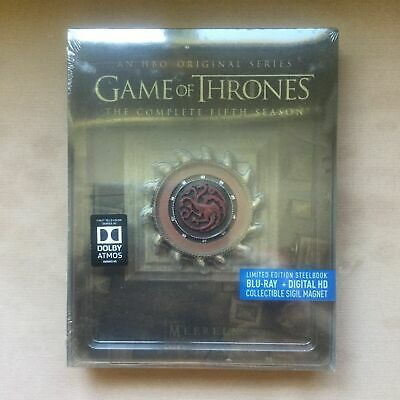 Game of Thrones Season 5 Blu-Ray Steelbook Limited Edition (Region A US/CA)