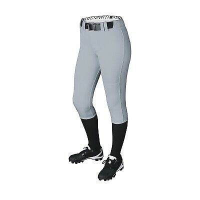(Large, Blue Grey) - DeMarini Girls Belted Pant. Delivery is Free