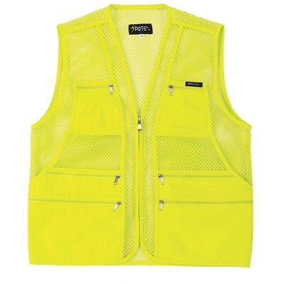 (XL US(3XL tag Asian), Neon Green) - myglory77mall Men's Multi Pockets Fly Fishi