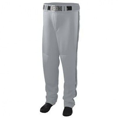 Youth Series Baseball/Softball Pant with Piping - GREY and BLACK - X-LARGE