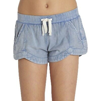 (MD (10/12 Big Kids), Chambray) - Billabong Girls Mad For You Short. Best Price