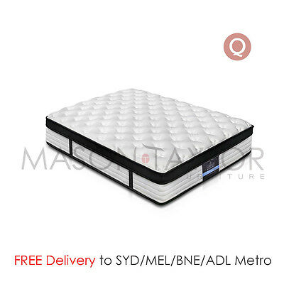 Mason Taylor Giselle Bedding Euro Top Bed Mattress Queen Size Pocket Spring NEW