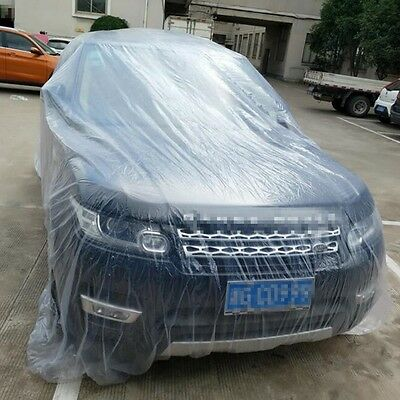 Clear Colors Disposable Car Cover Universal Rain/Dust Proof Garage Outdoor