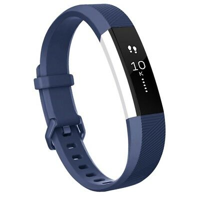 (Large, Navy Blue) - Fitbit Alta HR Bands, Vancle Classic Accessory Alta HR and