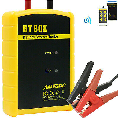 AUTOOL BT-BOX 12V Auto Batterietester Ladestation Test zum iOS Android Bluetooth