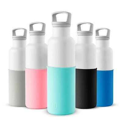 (WHITE-ARCTIC BLUE) - HYDY Vacuum Insulated Thermal Water Bottle 590ml - BPA