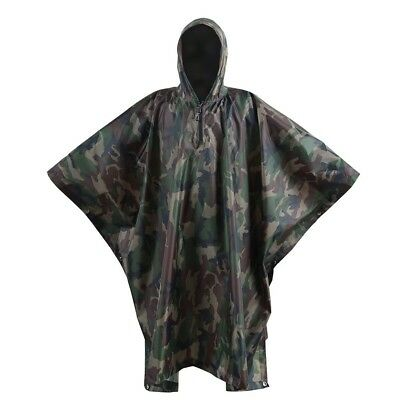 (Woodland - 210T Polyester Taffeta) - OneTigris Outdoor Multifunctional Poncho R