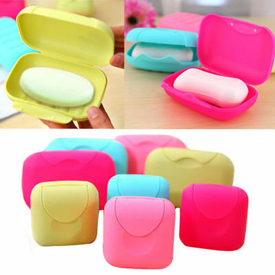 Bathroom Shower Travel Hiking Portable Soap Box Dish Plate Holder Case Container